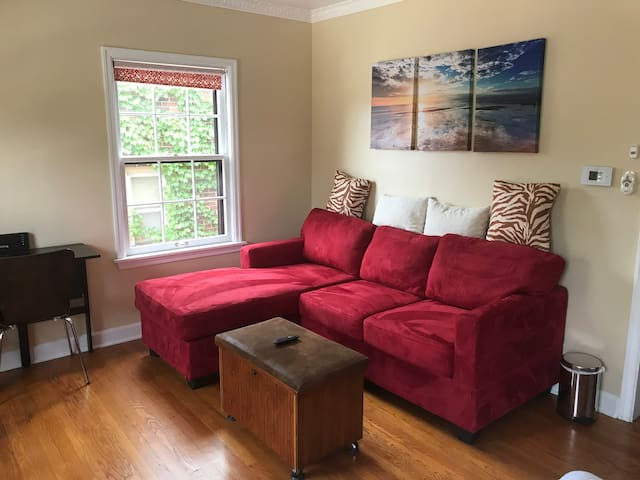 Spacious & Central w/ free parking + basement gym