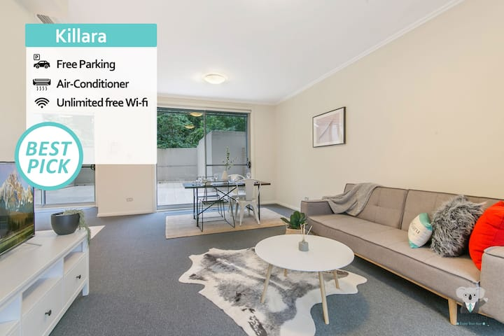 KOZYGURU | Killara | Kozy 2 BED 2 BATH + Free Parking | Walk to Train Station | NKI26