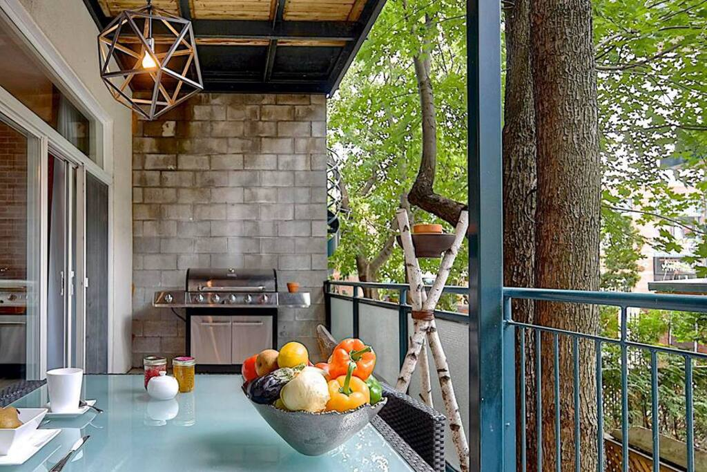 Large balcony with BBQ