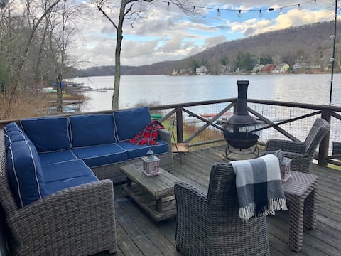 Lakefront cottage 1 hour from NYC