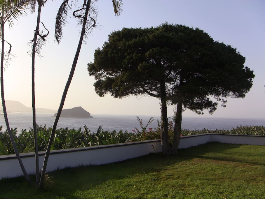 The view seaward to the west. In clear days, the island of La Palma may be seen. The sunsets are stunning.