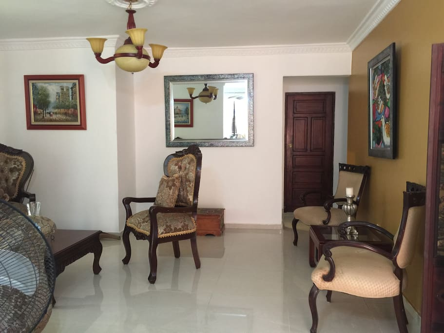This is the living area between the Kitchen and Bedroom.