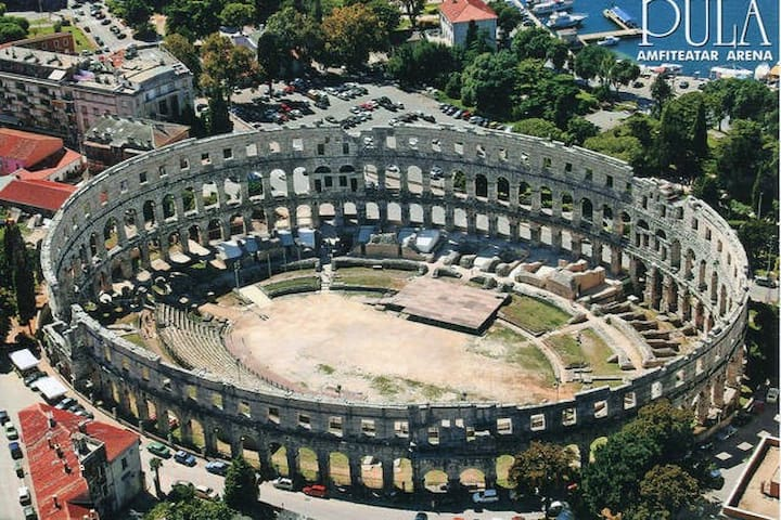 Pula amphitheatre (less than 5 min walk from the apartment)