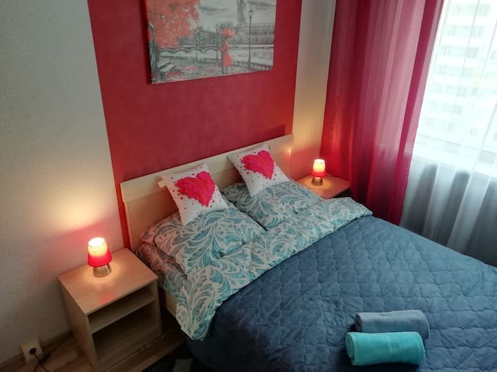 Апартаменты с двумя спальнями в Ивушках