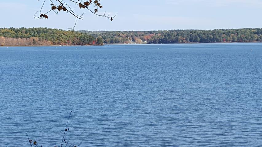 Lakefront camp on Androscoggin Lake. Great views!