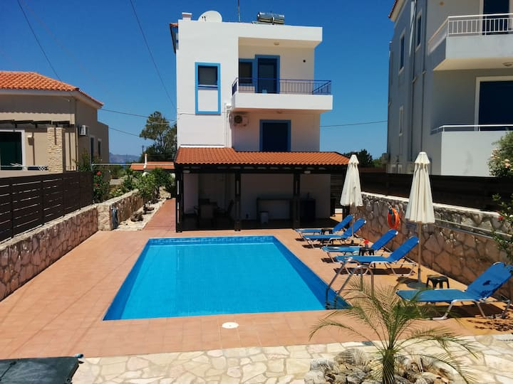 Villa Olympia with private pool and sea view