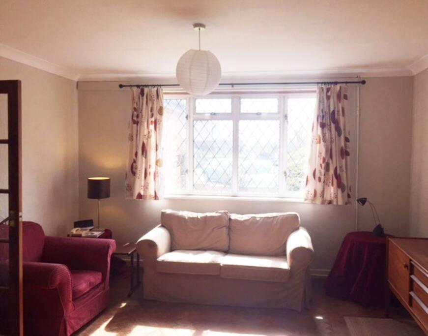 Bright, sunny lounge