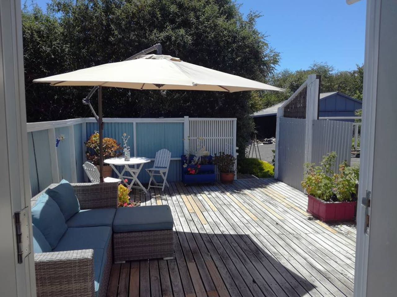 Relax on your own private adjoining deck. Eat, study or work outdoors!