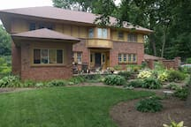 A beautifully restored historic home. Relax on the front patio!