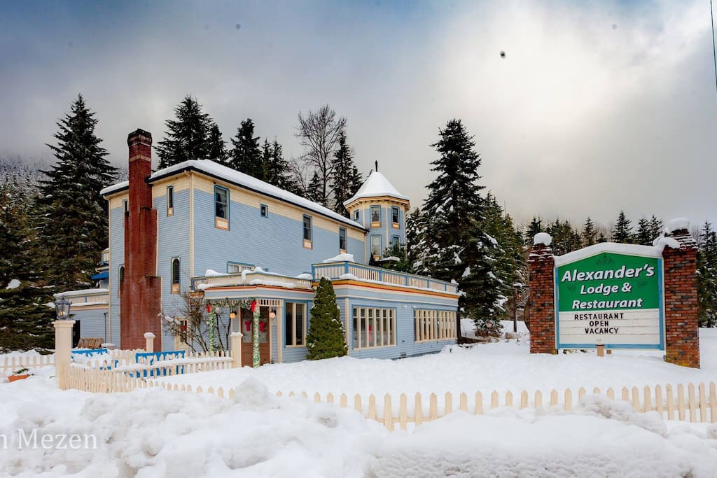 View in winter.