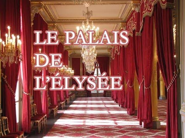 Élysée 2 minutes à pied de l'appartement   President house is 2 minutes from the flat walking