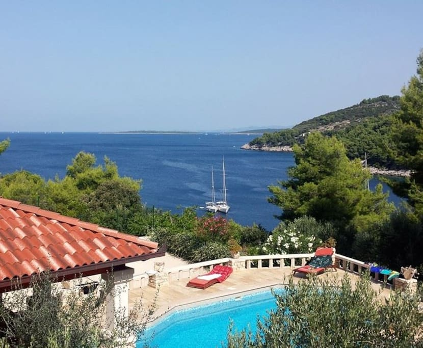 Sea view and pool Stone house