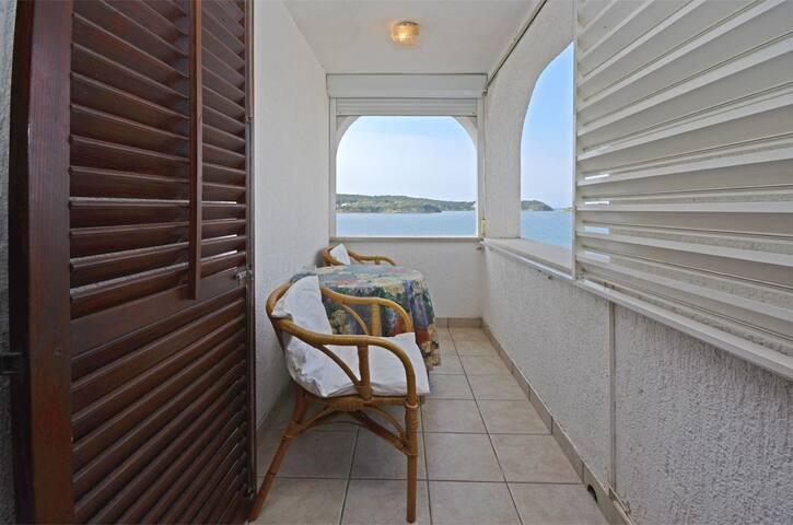 Jednoosobowy Apartament, przy plaży, Supetarska Draga - wyspa Rab, Balkon