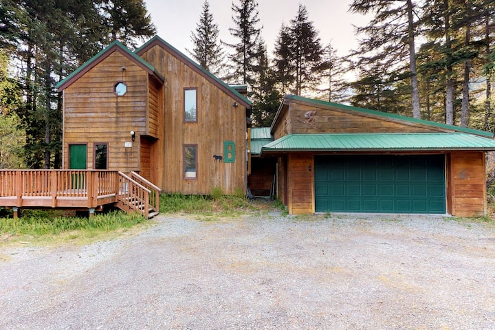 Private, spacious home in quiet location w/ private hot tub & two living rooms