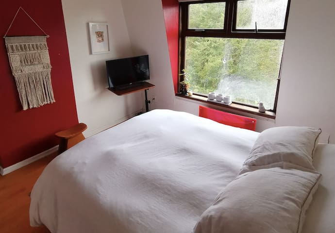 Private bed + bathroom , Cozy + views