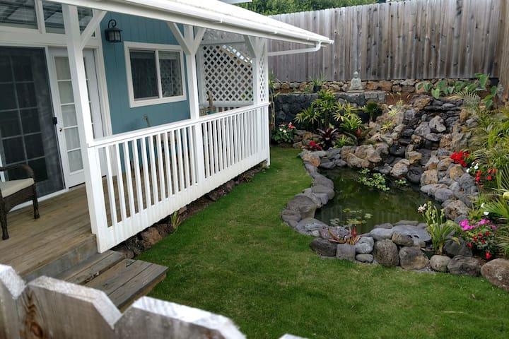 Artist designed suite. Private garden & waterfall.