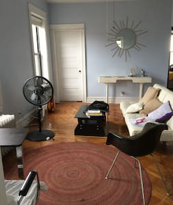 Private room in a two room corner apartment across the street from the F train and Prospect Park entrance.