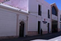 Street view, we are next to the pharmacy San Agustin and Supermarket SAS/ Vista de la calle, nos ubicamos a lado de la farmacia San Agustin y el Supermercado SAS