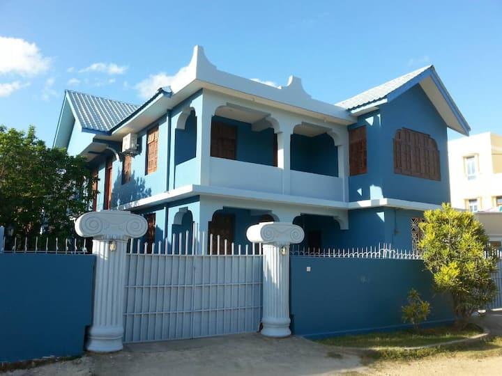 Blue house near Air Port, Nyerere road, Zanzibar