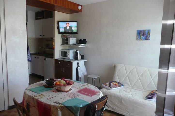 joli studio , proche de tout - Balaruc-les-Bains - Apto. en complejo residencial