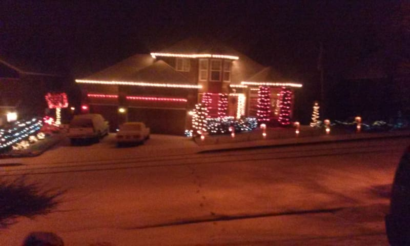 Plenty of christmas lights to show you where your staying