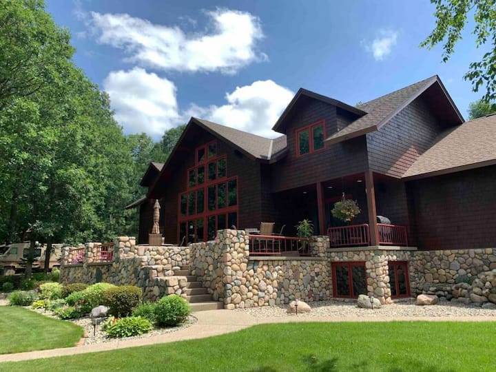 Day Spring Long Lake · Lake Front custom estate home, hot tub, gym ++++