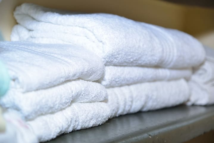 Bedsheets, towels available