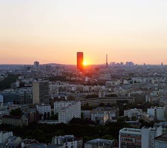 Jolie chambre ver la Tour Eiffel - Paris
