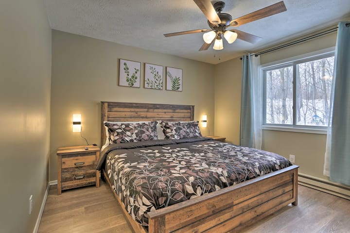 Country style king bedroom with smart TV