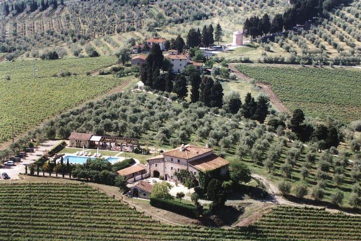 Junior Suite in an Organic Farmhouse in Chianti