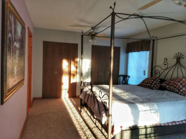 Extra large Room with private bathroom.