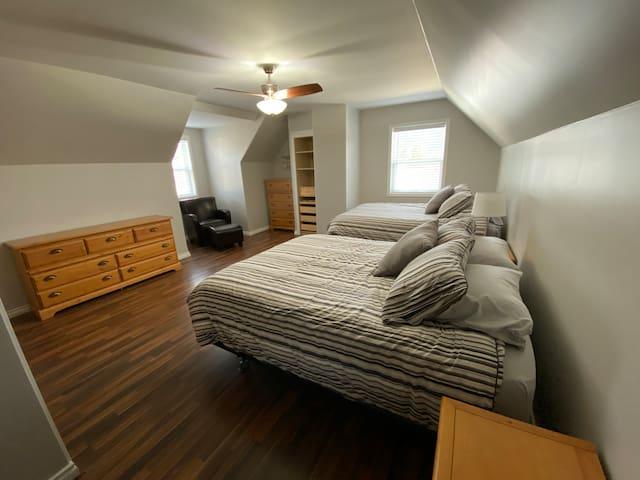Bedroom #5 , two queen beds, 2 Dressers