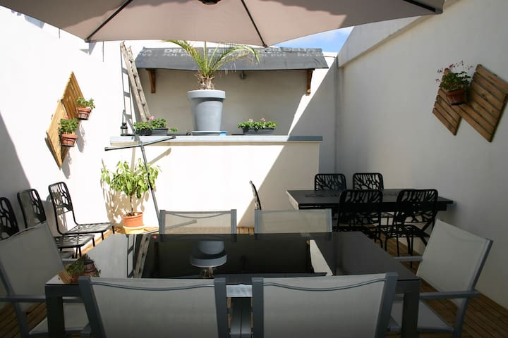 Maison spacieuse pour 10-15 personnes - Longeville-sur-Mer