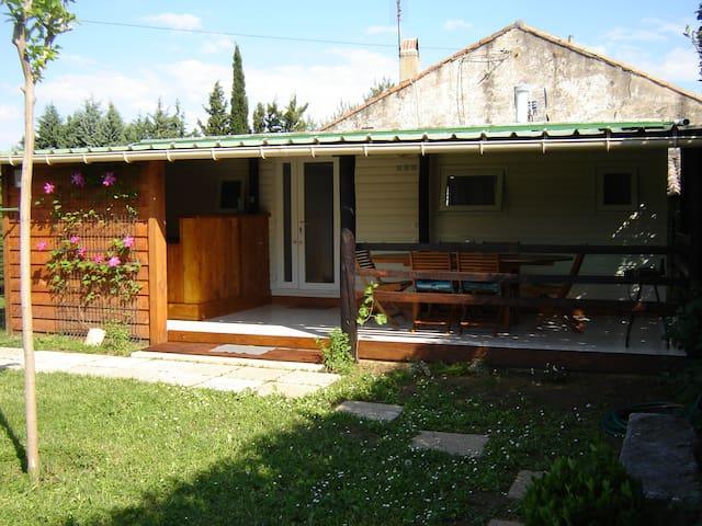 Joli mobilhome proche de la rivière de l'Ardèche - Saint-Julien-de-Peyrolas - Bungalow
