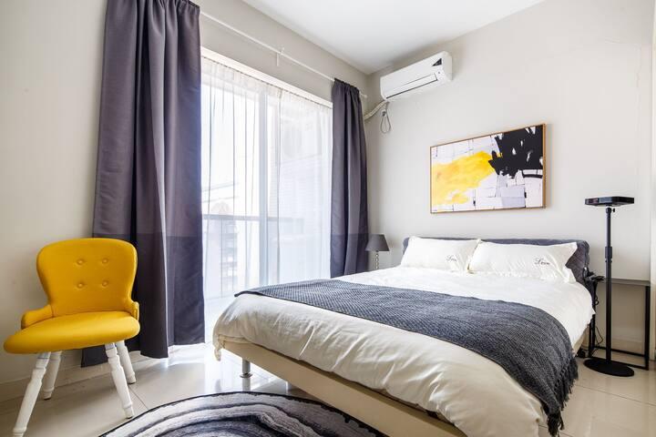 新房特价珠江新城双地铁直达长隆温馨大床房