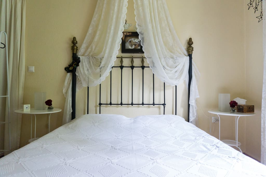 The king size bed (Bedroom #1) with a very comfy matres