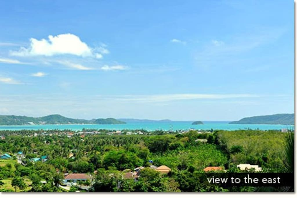 Ocean View from the Villa.
