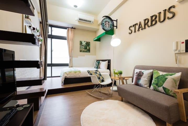 StarBus @ Taipei 西門MRT 5mins (3-4人房) free Wifi-Egg