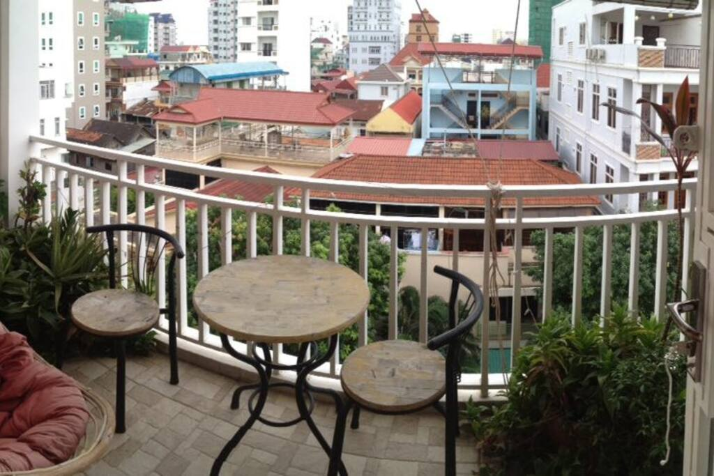 The balcony - a great spot for breakfast