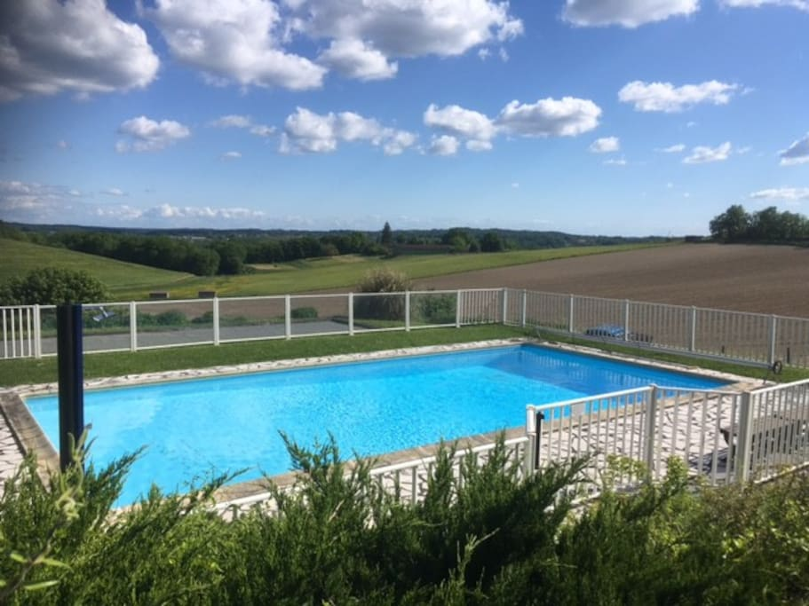The pool is shared with a few other houses in the barn conversion