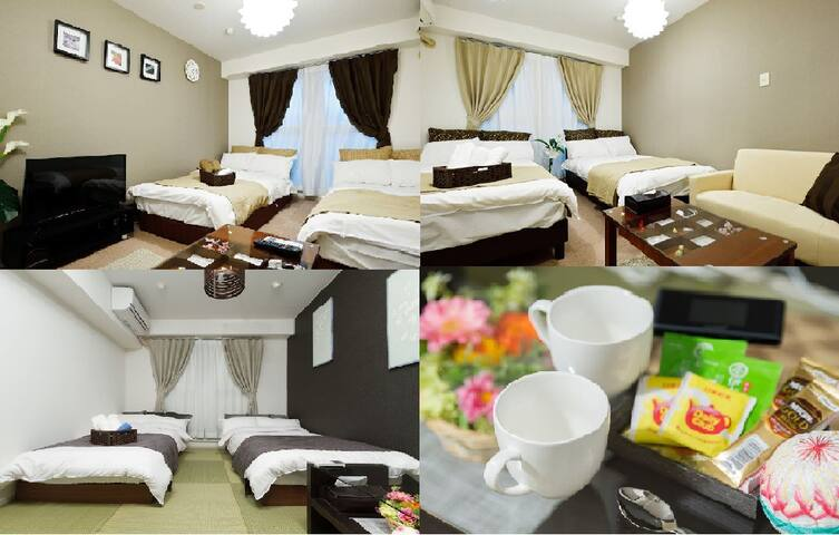 Cozy apartment for 6 near Kaiyukan, USJ, WI-FI