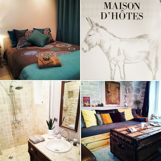 """Airbnb & Maison d'hôtes """"Le Petit Âne de la Colline"""""""