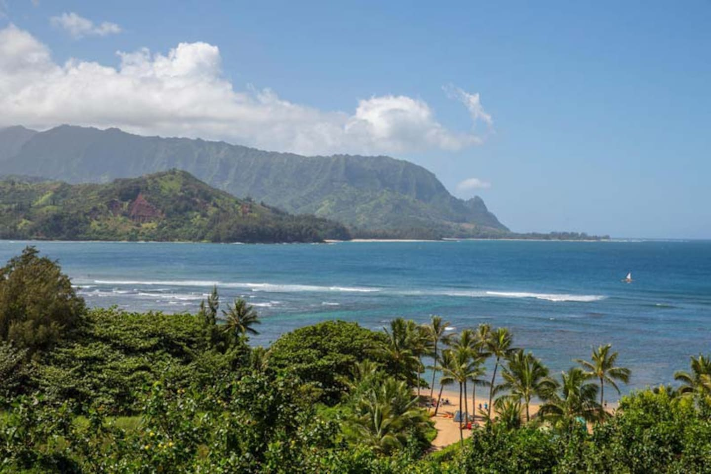 Gorgeous Hanalei Bay view from the Resort