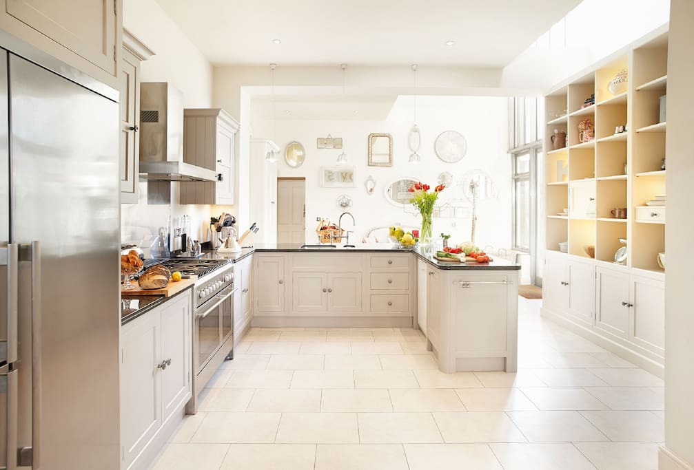 Ground floor: Large open plan kitchen leading to the dining room