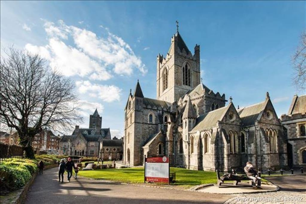 Christ Church Cathedral located directly across the road