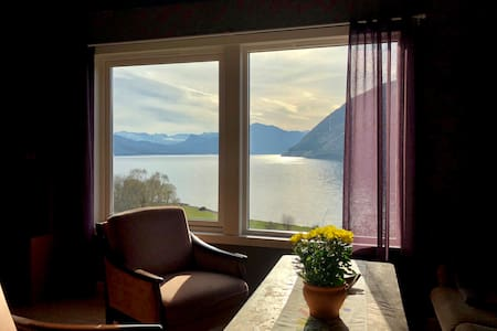 Cosy apartment with a fjord view