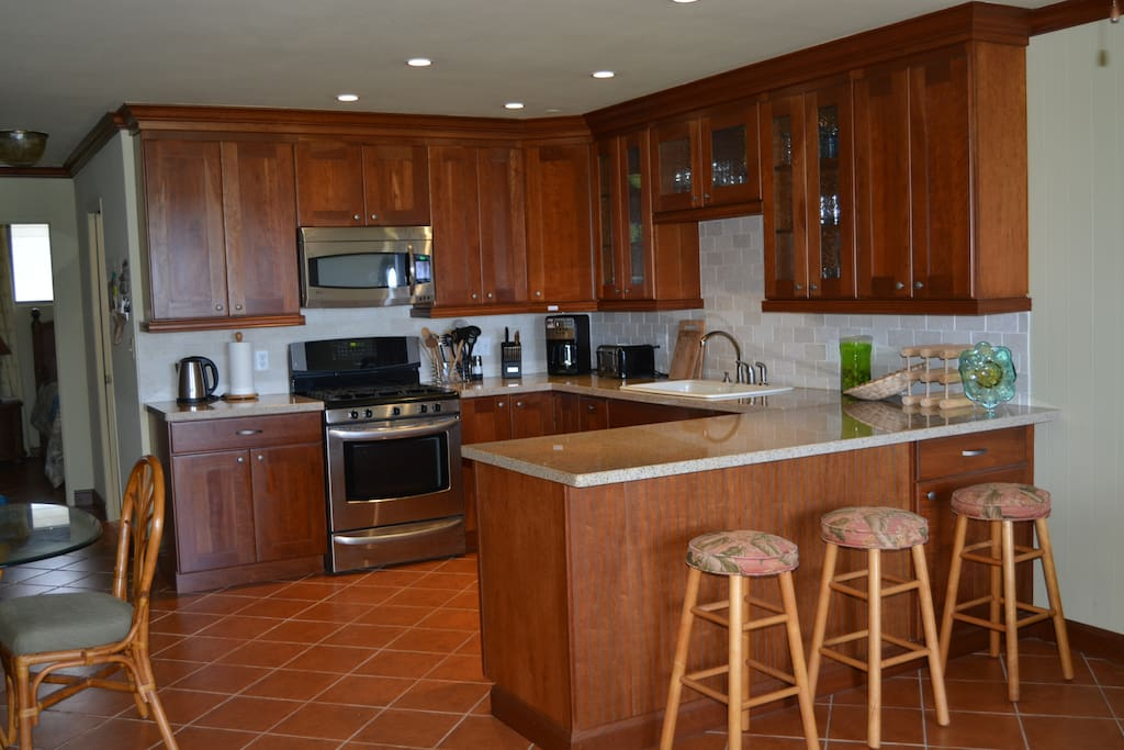 Fully renovated condo includes gorgeous kitchen.