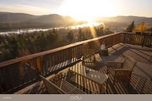 Sunset on the balcony ...