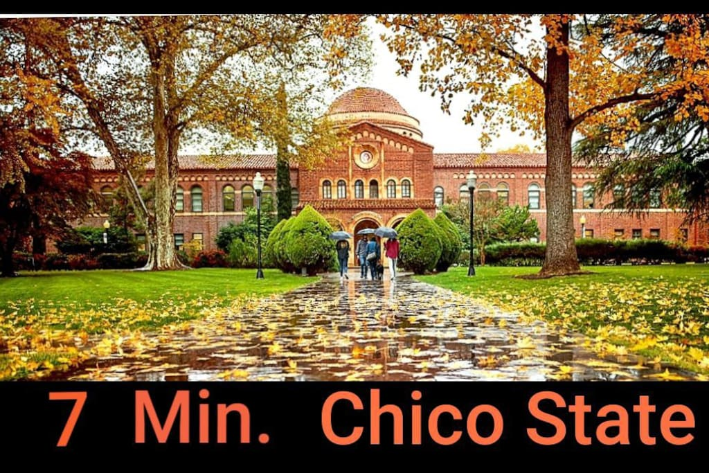 We are 4-7 Minutes to❤Chico State University.  Stay Long-Term too❤ Upscale & Quiet neighborhood⚘
