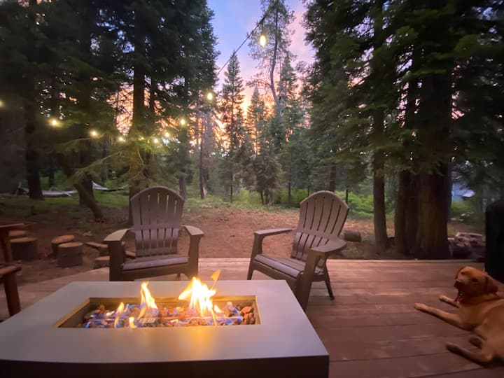 West Tahoe Blue Chalet | Hot Tub in the Trees